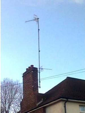 A highly durable digital compatible Confederation of Aerial Industries (CAI) benchmarked TV aerial installed in Balmoral Avenue, Belfast, Northern Ireland by Aerial Installations and Services